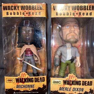 Walking Dead -Michonne & Merle Dixon bobble heads